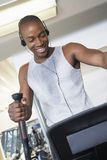 Man Exercising While Listening Music Royalty Free Stock Photo