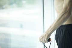 Man exercising nude torso Stock Image