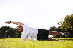 Man exercising in outdoor Royalty Free Stock Images