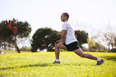 Man exercising in outdoor Stock Image