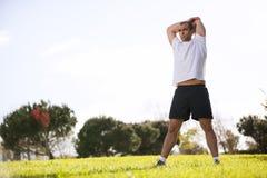Man exercising in outdoor Stock Photos