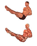 Man exercising and stretching Stock Photography