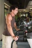 Man Exercising On Treadmill Royalty Free Stock Photos