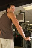 Man Exercising On Treadmill Stock Photography