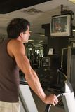 Man Exercising On Treadmill 7 Stock Image