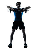 Man exercising weight training workout fitness Stock Image