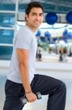 Man exercising with weights Royalty Free Stock Images