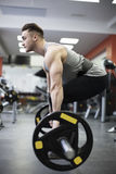 Man exercising with weights Stock Photo