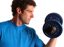 Free Man Exercising With Dumbbell Royalty Free Stock Photo - 10749195