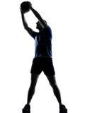 Man exercising workout Stock Image
