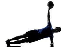 Man exercising workout Royalty Free Stock Image
