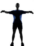 Man exercising workout Stock Photography