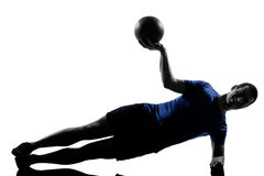 Man exercising workout Royalty Free Stock Images