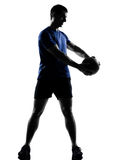 Man exercising workout Royalty Free Stock Images