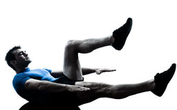 Man exercising workout fitness posture Stock Images
