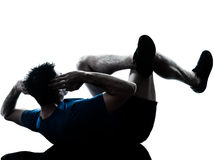 Man exercising workout fitness posture Royalty Free Stock Images