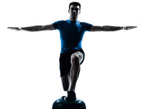 Man exercising workout fitness posture Stock Photography