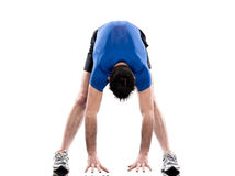 Man exercising workout fitness stretching Stock Photography