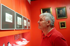 Man at the exhibition Stock Photos