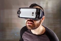 Man experiencing virtual reality Royalty Free Stock Image