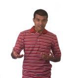 Man explaining stock photo