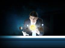Man exploring space Stock Photography