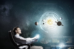 Man exploring space Royalty Free Stock Images