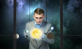 Man exploring space Royalty Free Stock Photography