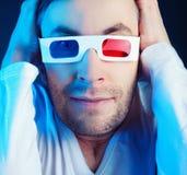 Man & exponeringsglas Arkivfoton