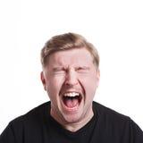Man expressing anger, feeling furious, shouting Royalty Free Stock Images