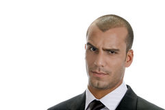 Free Man Expressing Suspicion With His Eyes Stock Photography - 6732822