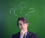 A man with an expression of questioning Stock Photo