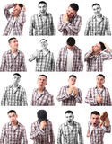Man Expressions Royalty Free Stock Photo