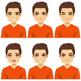 Man Expressions Collection Stock Photos