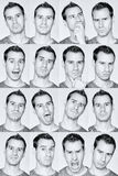 Man expressions. stock photos