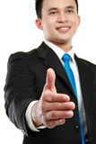 Man extending hand to shake Stock Images