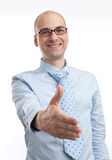 Man extending hand to shake Royalty Free Stock Photography