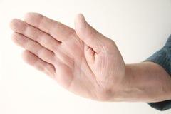 Man extends his hand Stock Photos