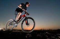 Man Extreme Biking Stock Photography