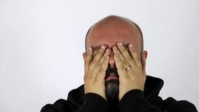 Man with Extreme Headache stock footage