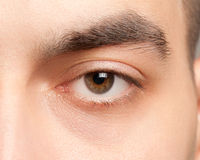 Man eye closeup Stock Images