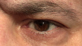 Man eye closeup stock video