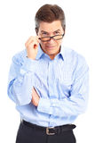Man with eyeglasses Royalty Free Stock Photography