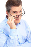 Man with eyeglasses Stock Photos