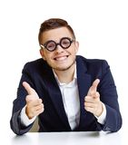 Man in eyeglasses Royalty Free Stock Photo