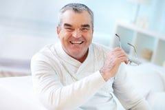Man with eyeglasses Stock Photos