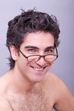 Man in eyeglasses smiling Stock Photos