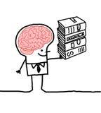 man för 2 hjärna Arkivbilder