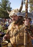 Man för Arizona renässansfestival Arkivfoton