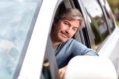 man för bilkörning royaltyfri foto